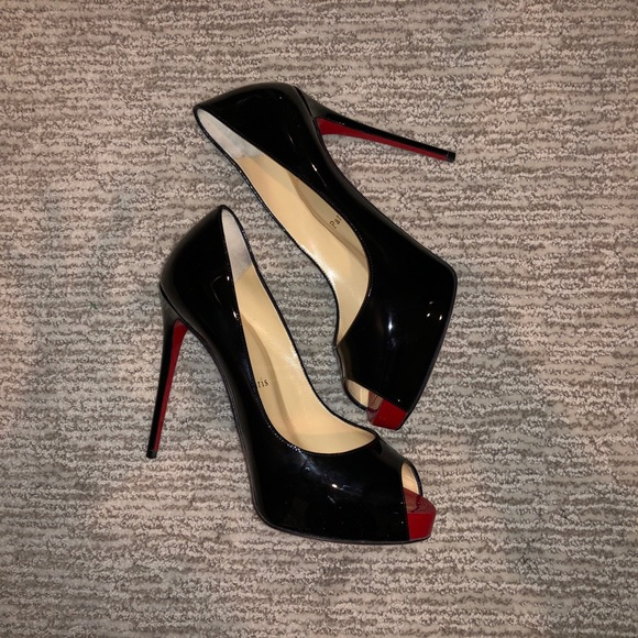 online retailer 29331 41fc6 Christian Louboutin new very prive 120mm black NWT